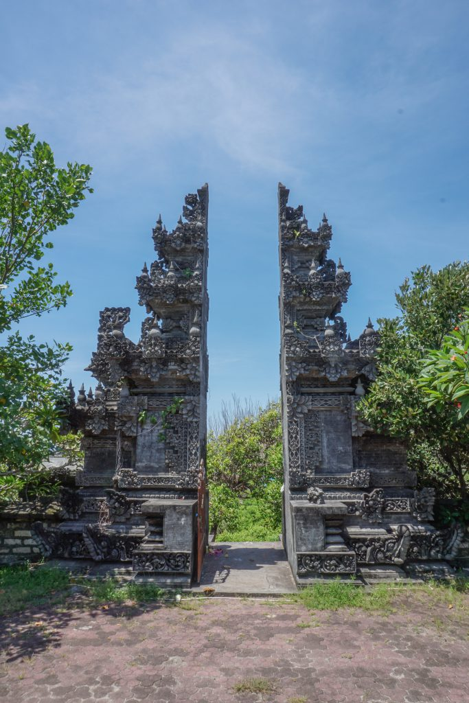 one of the Pura Geger Dalem Pemutih Temple entrys